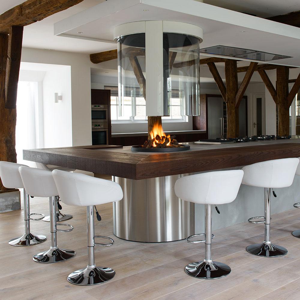 Handgemaakte houten keukens interieurs jp walker - Lounge en keuken in dezelfde kamer ...