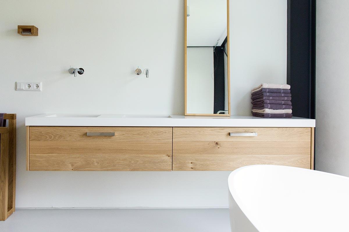 badkamermeubel van corian en eiken jp walker