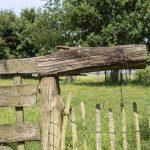 houten hek
